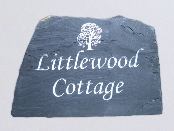 freestanding houe sign for a cottage