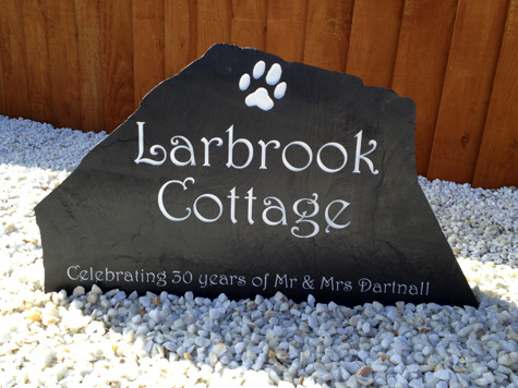 Freestanding Slate House Sign for Cottage
