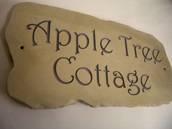 house sign plaque made with sandstone