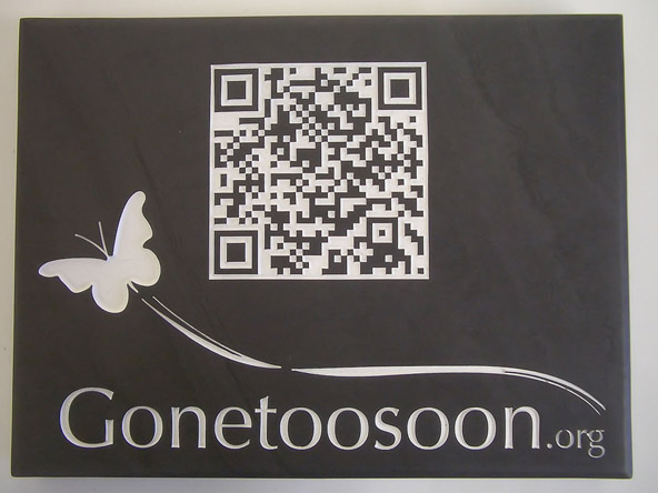 simple sign with qr code
