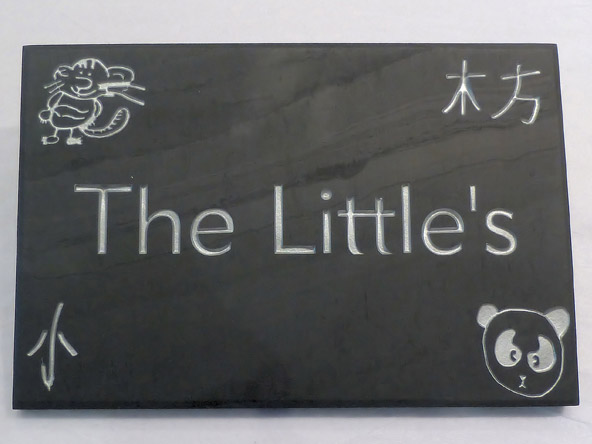 the littles stone plaque sign